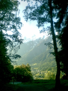 View from Les Houches