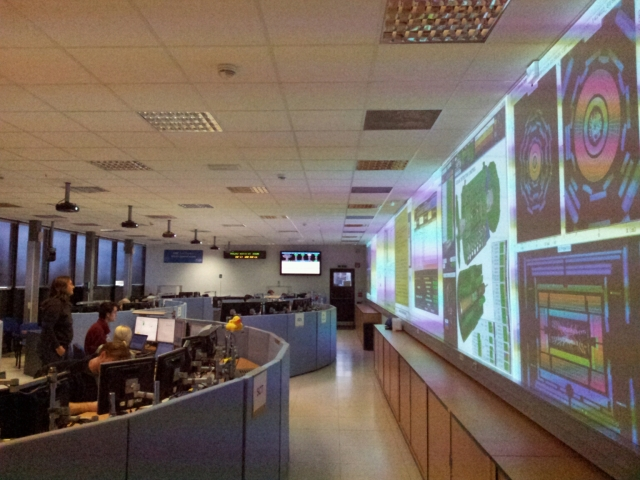 The ATLAS control room.