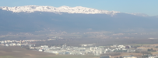 cern and the jura, from a plane